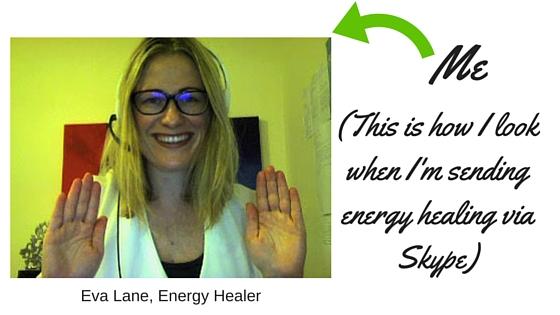Eva Lane sending energy healing via skype