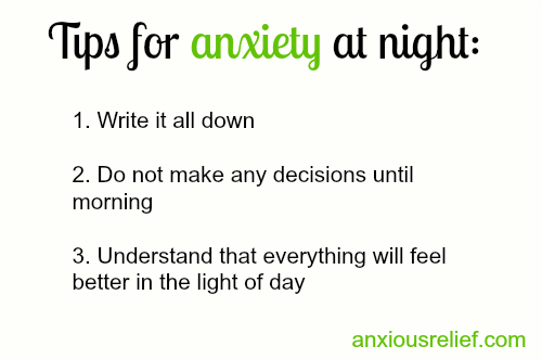 Why is my anxiety at night so bad?
