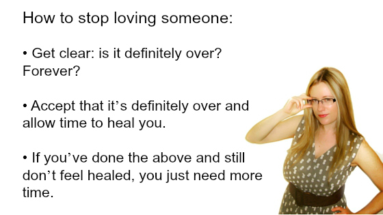 when to stop loving someone
