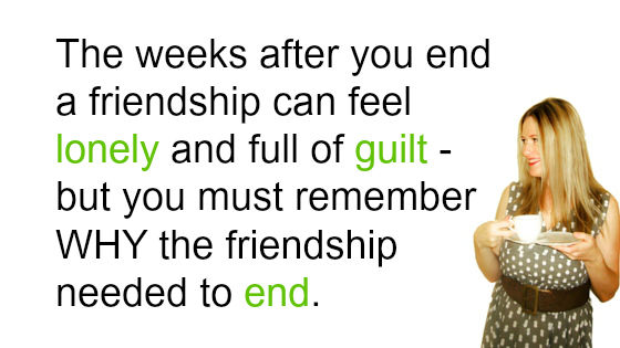 how to end a friendsip