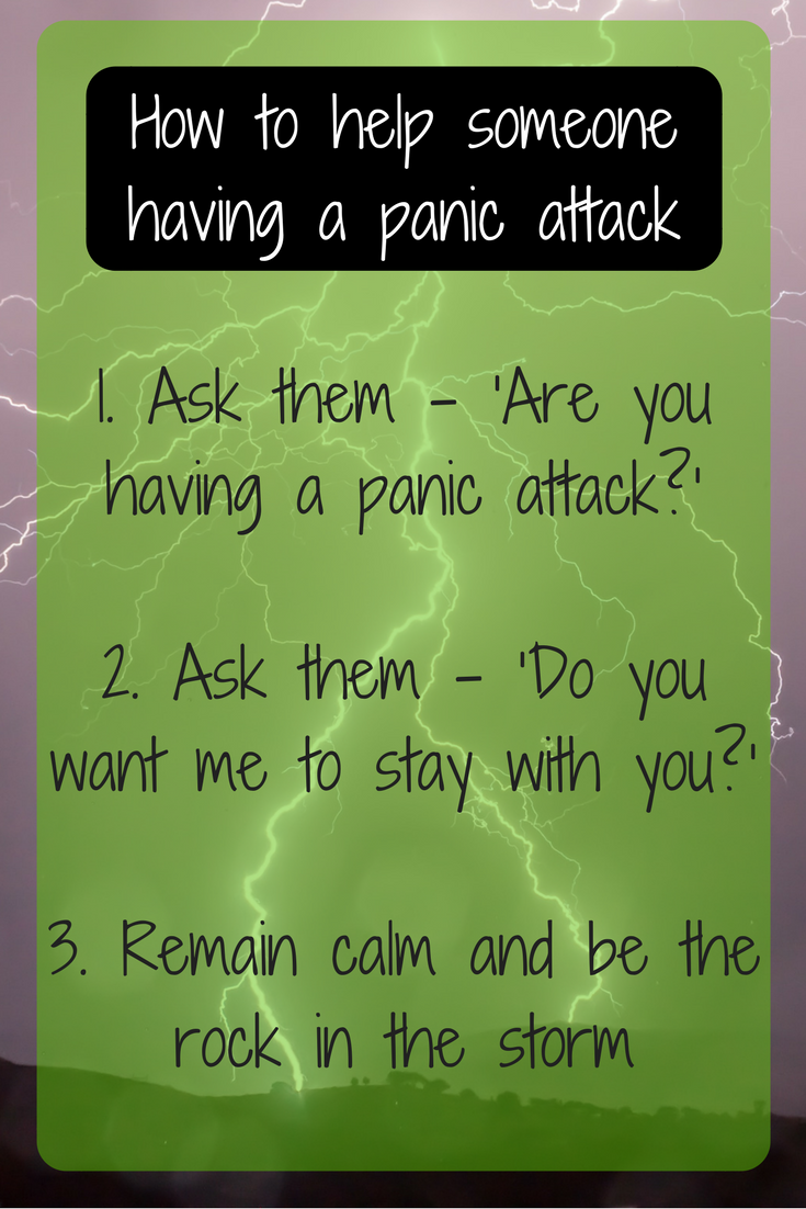 how to help someone having a panic attack - anxious relief