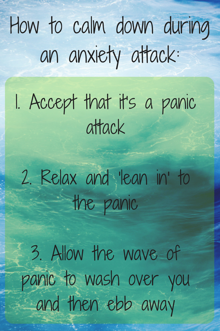 How to calm down during an anxiety attack