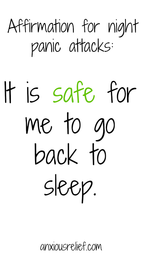 Affirmation for night panic attacks: It is safe for me to go back to sleep