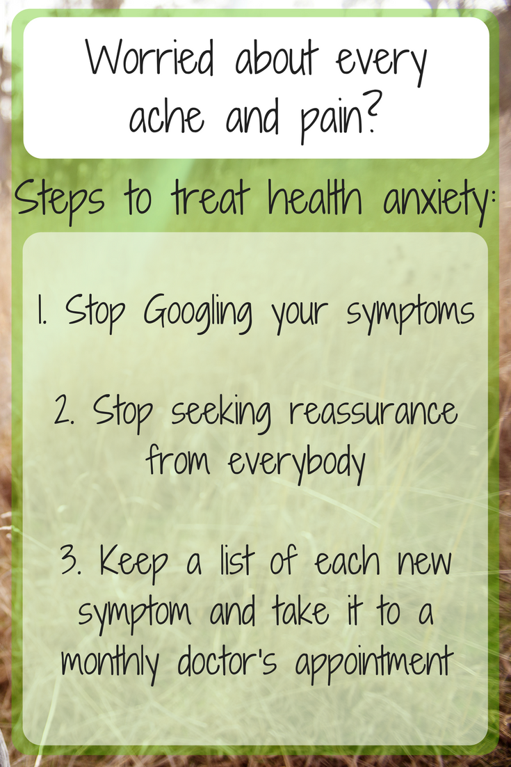 3 steps to take if you are worried about every ache and pain
