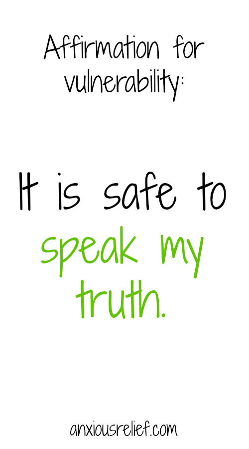 Affirmation for entrepreneur anxiety: It is safe to speak my truth